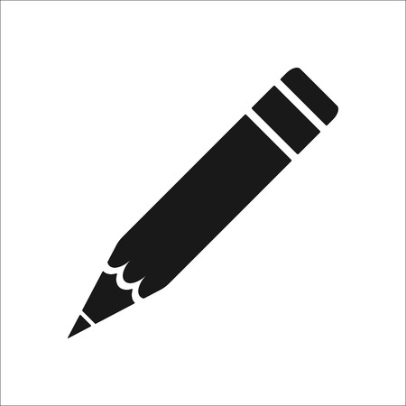 simple background: Pencil symbol sign simple icon on background