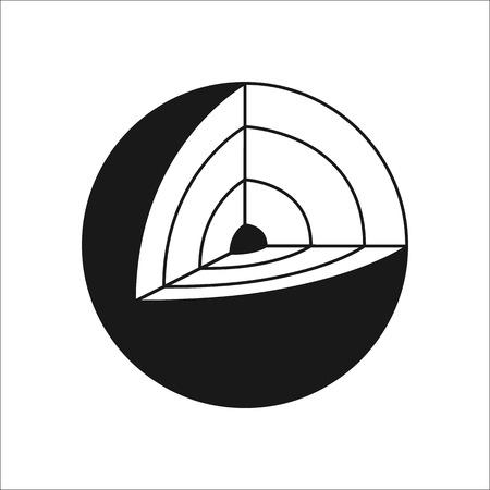 Erde Struktur Symbol zeichen Symbol auf den Hintergrund Vektorgrafik