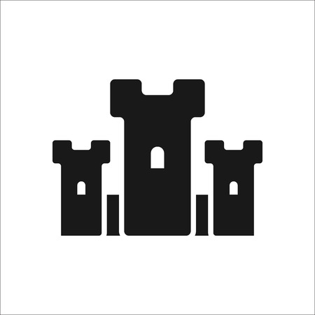 loophole: Castle symbol sign simple icon on background Illustration