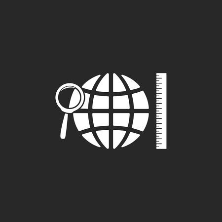 soumis: signe matière scolaire Géographie simple, icône sur fond