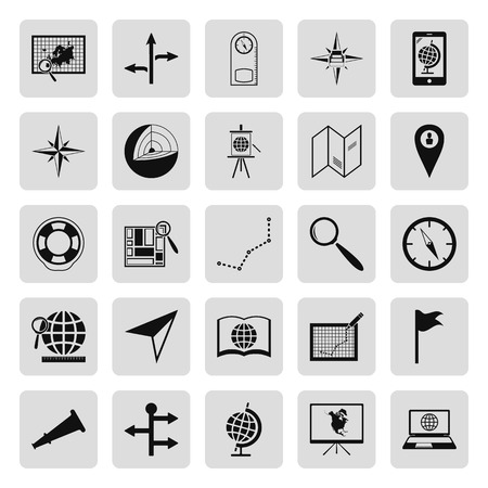 geography background: Geography black simple icon set on background