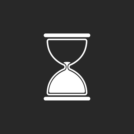 simple background: Hourglass symbol sign simple icon on background