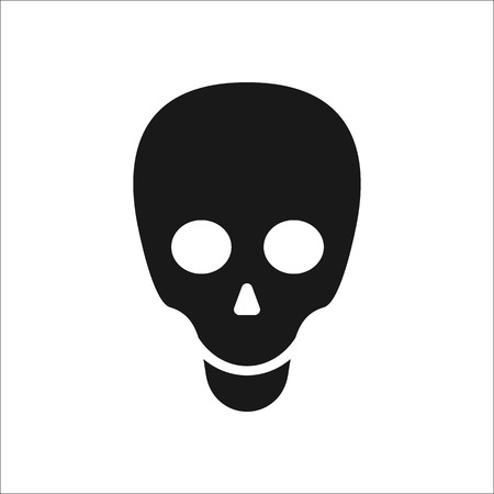 simple background: Skull symbol sign simple icon on background Illustration