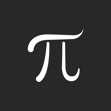 constant: Pi symbol sign simple icon on background