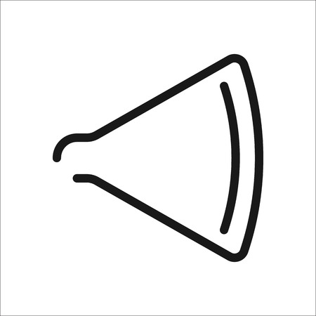 sound speaker: Sound speaker symbol sign one line icon on background