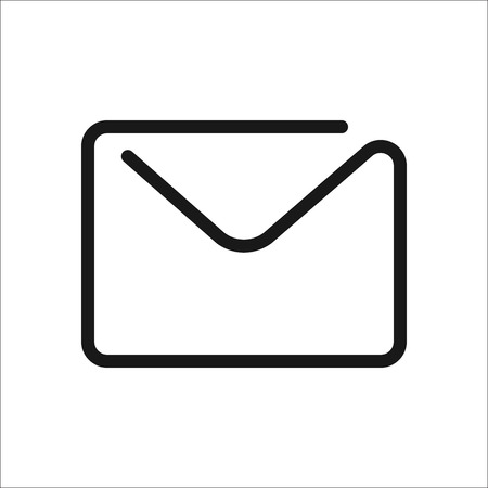 Message or letter symbol sign one line icon on background