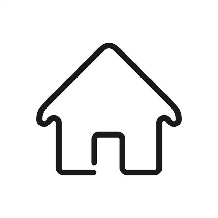 real state: Home symbol sign one line icon on background Illustration