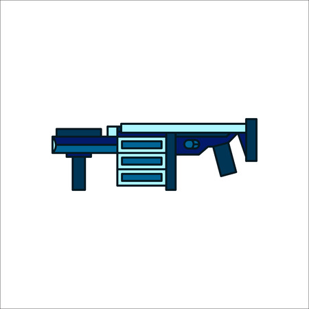 launcher: Grenade launcher gun symbol sign flat icon on background