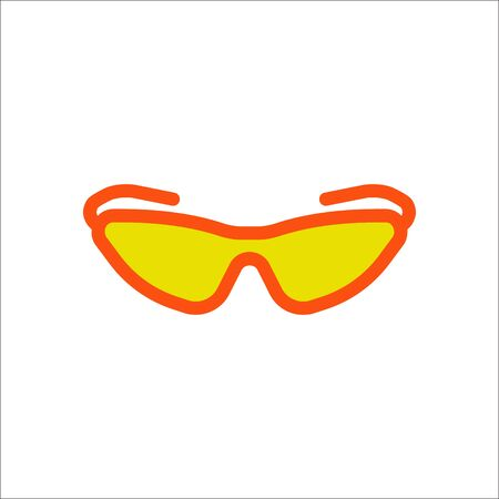 Bicycle sport sunglasses symbol sign flat icon on background Illustration