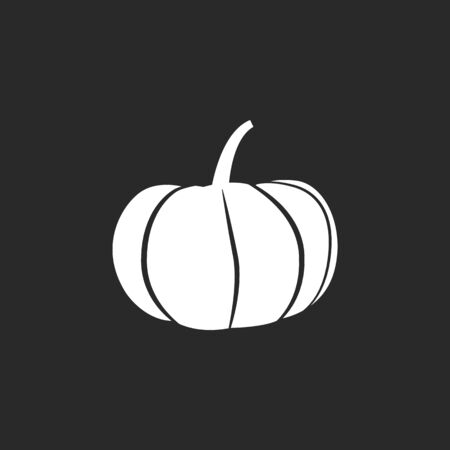 simple background: Pumpkin symbol sign simple icon on background