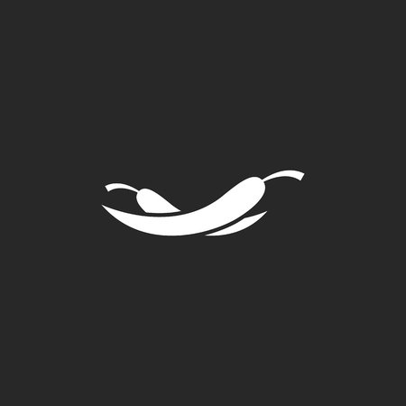 capsaicin: Chili peppers symbol sign simple icon on background Illustration