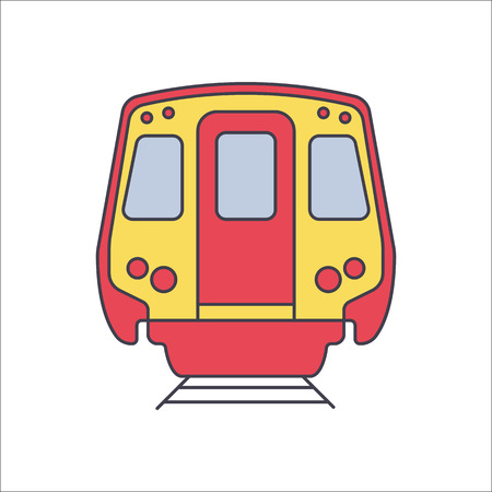 monorail: Modern subway train flat sign symbol icon on background
