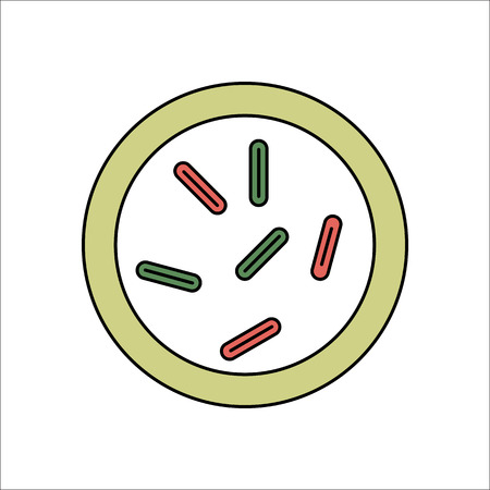 bacilli: Biology microorganisms, germs and bacilli colony flat sign symbol icon on background
