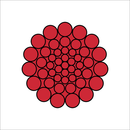 Bacteria virus flat sign symbol icon on background