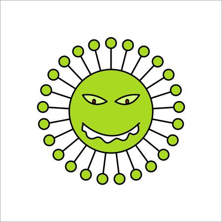 alergenos: virus de bacterias símbolo del icono de signo de la silueta en el fondo