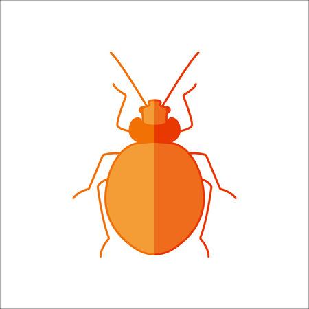 Bug flat symbol sign icon on background Illustration