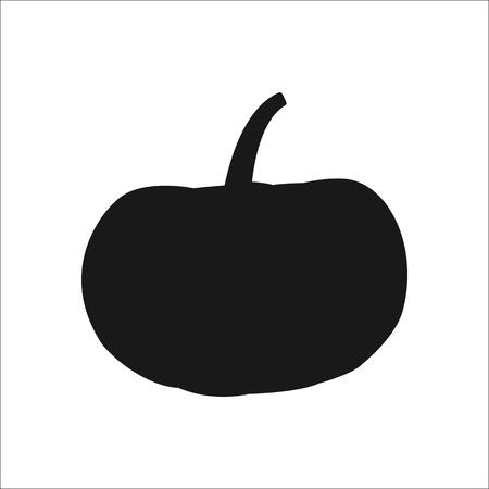 Pumpkin sign silhouette symbol icon on background Illustration