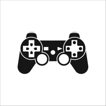 Game Controller Or Gamepad Symbol Sign Silhouette Icon On Background
