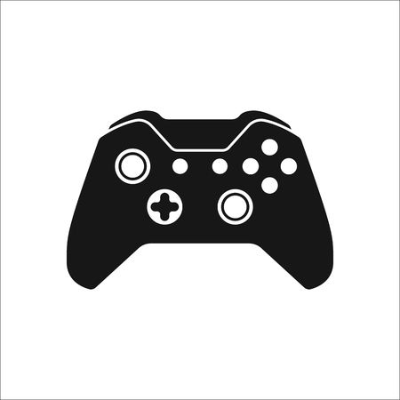 Game Controller or gamepad symbol sign silhouette icon on background Illustration