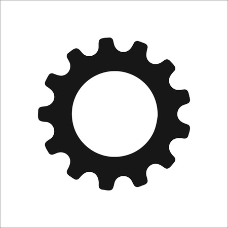preferences: Gear icon. Options, preferences, generation and work concept symbol sign silhouette icon on background Illustration