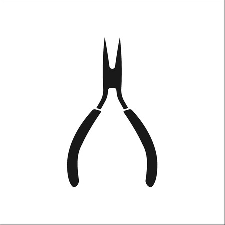 Pliers symbol sign silhouette icon on background Illustration