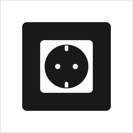 Power Socket Symbol Sign Silhouette Icon On Background Royalty Free
