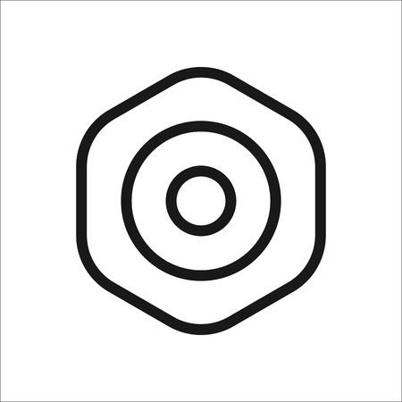 Skateboard hardware Shim symbol sign line icon on background