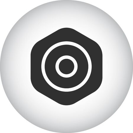 Skateboard hardware Shim symbol sign silhouette icon on background Ilustração
