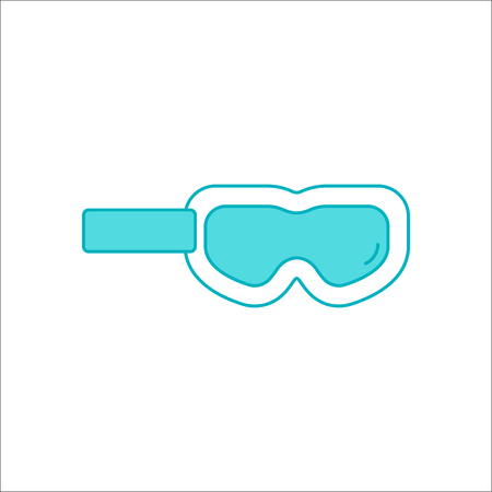 ski wear: Snowboarding Skiing mask goggles symbol sign flat icon on background