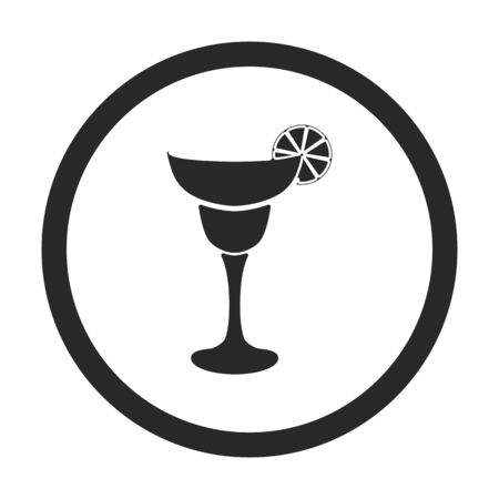 Margarita cocktail symbol sign silhouette icon on background