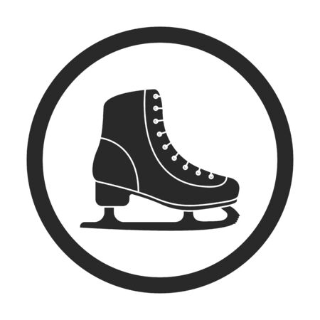 figureskating: Ice skate symbol sign silhouette icon on background