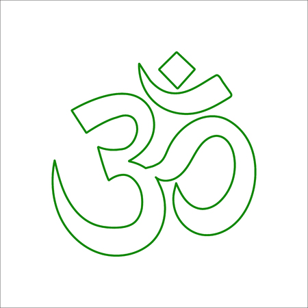 om: Om symbol sign flat icon on background