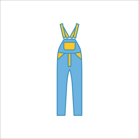 pinafore: Dungarees or Rompers Pinafore symbol simple flat icon on background Stock Photo