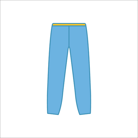 joggers: Joggers trousers or pants symbol simple flat icon on background