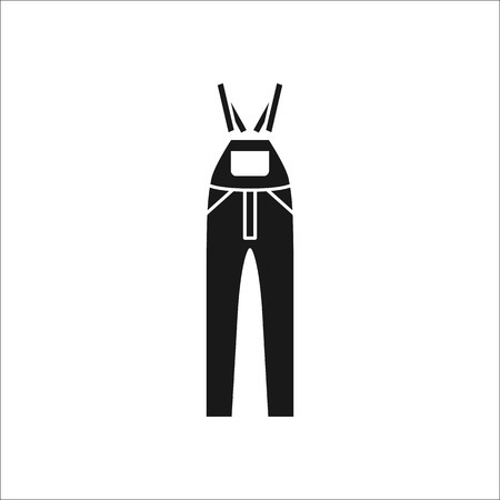 pinafore: Dungarees or Rompers Pinafore symbol simple silhouette icon on background