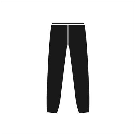 joggers: Joggers trousers or pants symbol simple silhouette icon on background