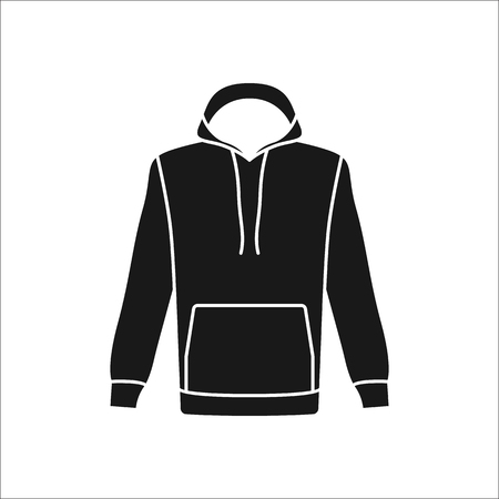 activewear: Hoodie for men symbol simple silhouette icon on background
