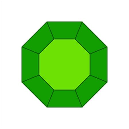 Emerald simple flat icon