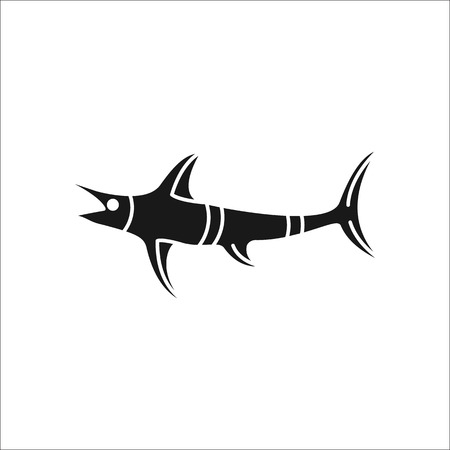marline: Swordfish symbol simple silhouette icon on background Illustration