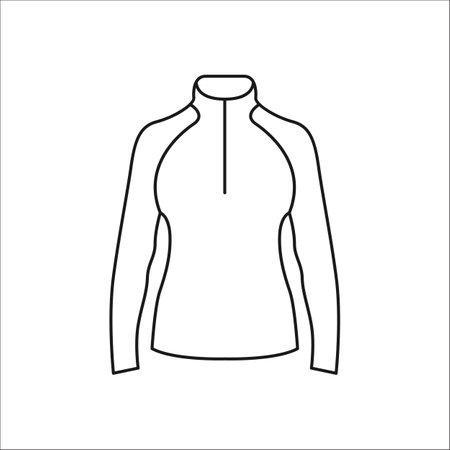 warmed: Women sport jacket simple line icon on background Illustration