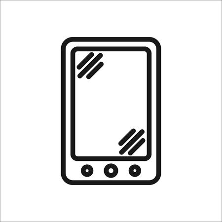 Tablet simple flat icon on background Illustration