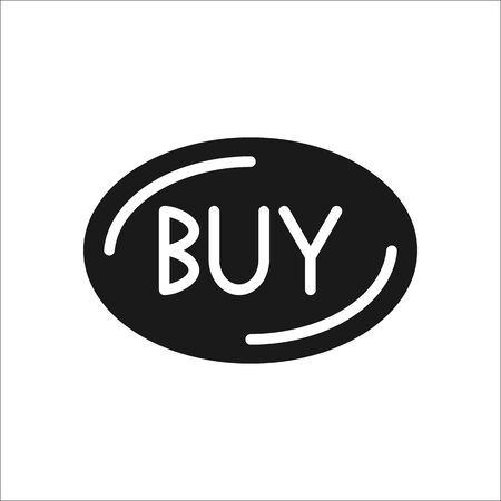 simple store: Buy button symbol simple , silhouette icon on background.