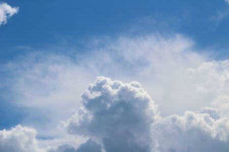 A beautiful cloud in the shape of a ram's head against a blue sky Foto de archivo - 149592929