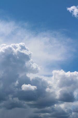 Beautiful white-blue clouds in heaven