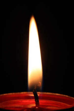 life and death: Candlelight Stock Photo