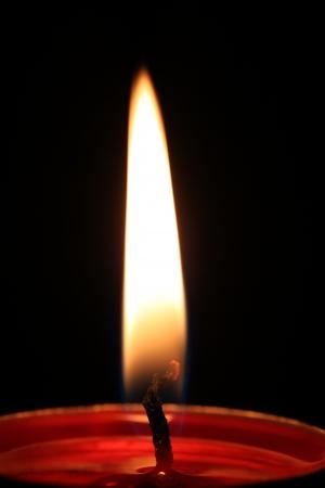 luz de velas: Luz de una vela