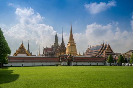 the emerald city: Wat Phra Keow. The royal temple in Bangkok, Thailand, is located near Bangkok grand palace.