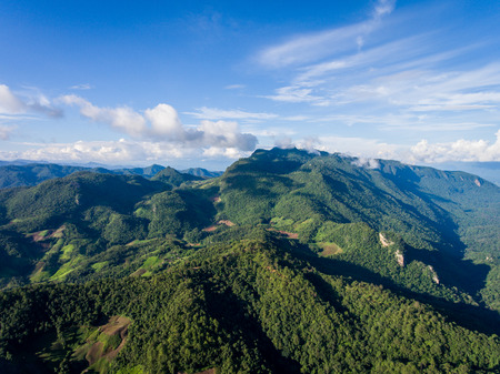 Mountain landscape in Chiang Dao district, Chiang Mai, Thailand
