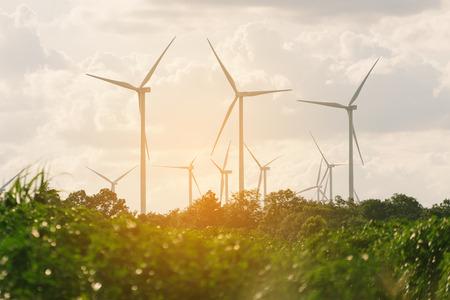 Windturbinepark - hernieuwbare energie, duurzame energie en alternatieve energie