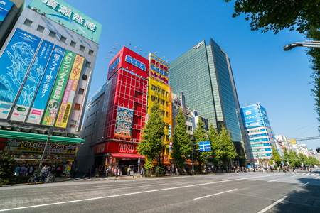 Tokyo, Japan - NOV 13, 2016: Akihabara Electric Town in Tokyo. Akihabara is a popular shopping district for video games, anime, manga, and computer goods. One of the most attracting place in Tokyo.